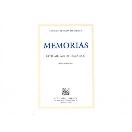 Memorias Epitome Autobiografico - Envío Gratuito