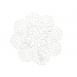 Ulrike Carpeta Bordada Blanca - Envío Gratuito