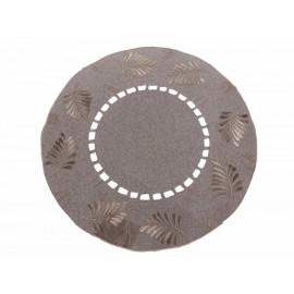 Home Elegance Carpeta Redonda Café 40 cm - Envío Gratuito