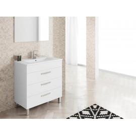 Bannio Mueble de Baño Atile Blanco Brillo 80 cm - Envío Gratuito