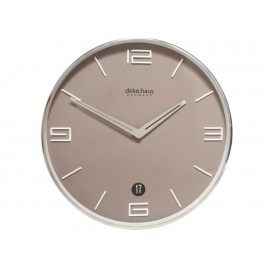 Decoregalo Reloj de Pared con Fechador Café - Envío Gratuito