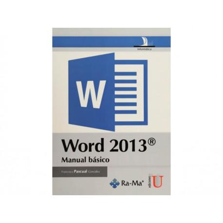 Word 2013 Manual Básico - Envío Gratuito