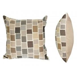 Blox Slate Cojín Decorativo Estampado Beige - Envío Gratuito
