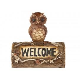 L-World Figura Decorativa Búho Welcome Café - Envío Gratuito
