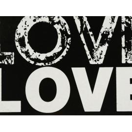 Haus Deko Portaretrato Love Negro - Envío Gratuito