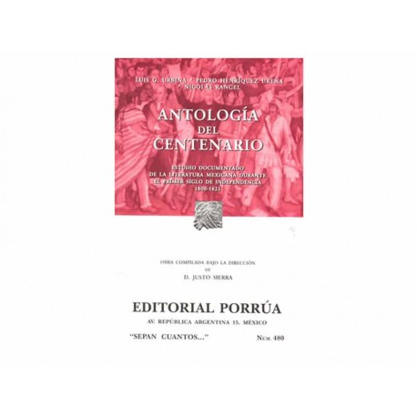 Antologia del Centenario 1800-1821 - Envío Gratuito