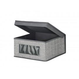 Interdesign Caja Mediana Aldo Gris - Envío Gratuito