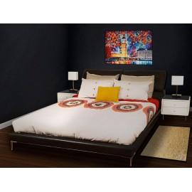Pie de cama Casale Mandala natural - Envío Gratuito