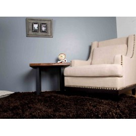 Pie de cama Farzin LIV 1365 chocolate - Envío Gratuito