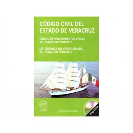 Código Civil del Estado de Veracruz y Código de Procedimientos Civiles del Estado de Veracruz 2015 con Cd - Envío Gratuito