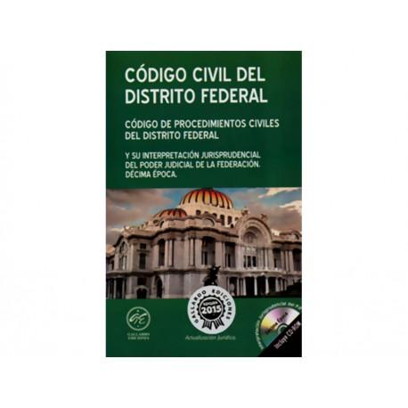 Código Civil y Código de Procedimientos Civiles del Distrito Federal 2015 con Cd - Envío Gratuito