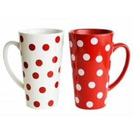Set de tazas coffee dots Haus rojo - Envío Gratuito