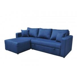 Sofá Cama Izquierda Contemporánea Liz Barlow azul - Envío Gratuito