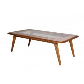 Mesa rectangular de centro Natuzzi Chianti nogal - Envío Gratuito