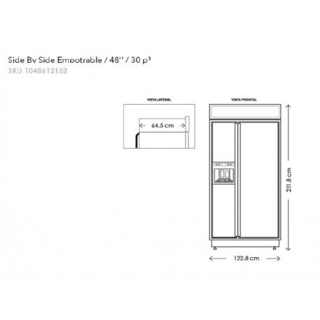 KitchenAid KBSD608EBS Refrigerador 30 Pies Cúbicos Negro - Envío Gratuito