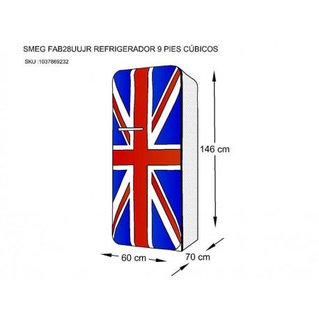 Refrigerador Smeg 9 pies cúbicos FAB28UUJR1 - Envío Gratuito