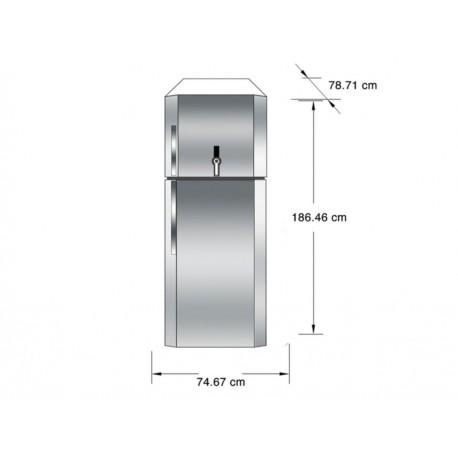 IO Mabe IOM1951ZMXV0 Refrigerador 19 Pies Cúbicos Plata - Envío Gratuito