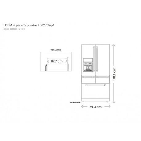 KitchenAid KRMF706EBS Refrigerador 26 Pies Cúbicos Negro - Envío Gratuito