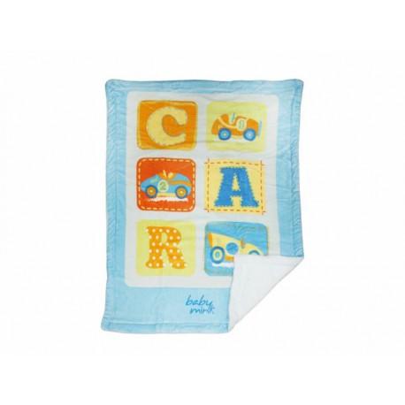 Baby Mink Edredón Conformink Plus Baby Car Azul - Envío Gratuito