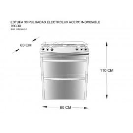 Electrolux 76GDX Estufa 30 Pulgadas Acero Inoxidable - Envío Gratuito