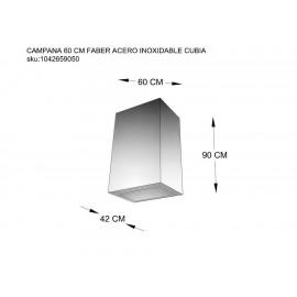 Campana Faber 60 cm acero 110.0325.038 - Envío Gratuito