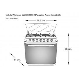 Whirlpool WE6255S Estufa 30 Pulgadas Acero Inoxidable - Envío Gratuito