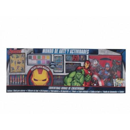 Best Trading Set Escolar Mundo de Arte y Actividades The Avengers - Envío Gratuito