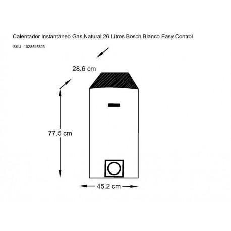 Calentador Bosch Easy blanco Control - Envío Gratuito