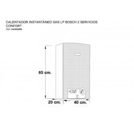 Calentador Bosch Comfort blanco - Envío Gratuito