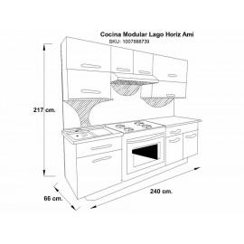Cocina Modular Lago 2.40 Ferreti - Envío Gratuito