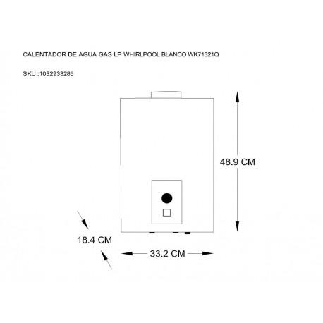 Whirlpool WK71321Q Calentador a Gas LP 1 Servicio Blanco - Envío Gratuito