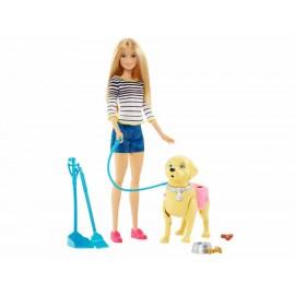 Muñeca Barbie Paseo de Perrito - Envío Gratuito