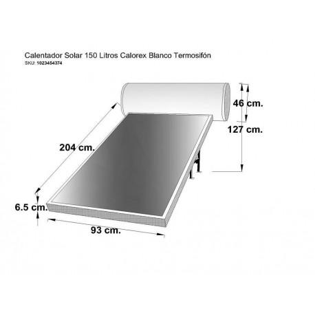 Calentador solar Calorex Termosifón 150 gris - Envío Gratuito