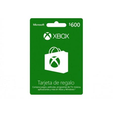 Xbox Live Tarjeta CSV 600 MXN - Envío Gratuito