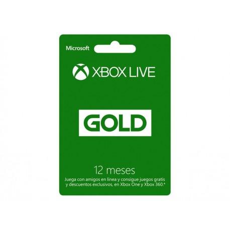 Xbox Live Tarjeta Gold 12 Meses - Envío Gratuito