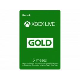 Tarjeta Xbox Live Gold 6 meses - Envío Gratuito