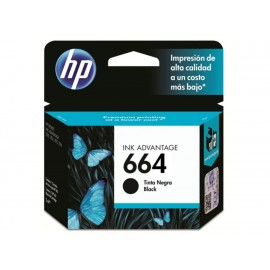 Cartucho HP Tinta 664 Negro - Envío Gratuito