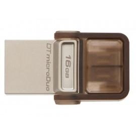 Kingston USB Gris Duo 16 GB - Envío Gratuito