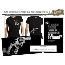 Playera la Mejor Arma Contra la Ignorancia es el Estudio (H-M) - Envío Gratuito