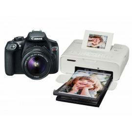 Kit Canon EOS Rebel T16 18-55 mm Impresora Selphy Blanca - Envío Gratuito