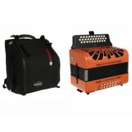 Acordeón Diatónico Hohner Compadre A4845S naranja - Envío Gratuito