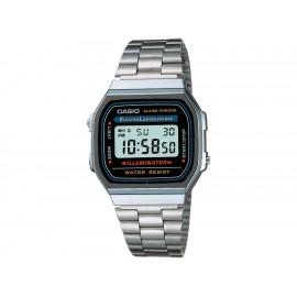 Casio Classic A168WA-1VT Reloj Unisex Color Plata - Envío Gratuito