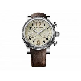 Reloj para caballero Graham Silverstone 2BLFS.W06A.L20S café - Envío Gratuito