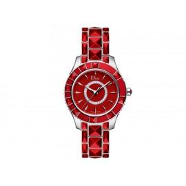 Dior Dior Christal CD143111M001 Reloj para Dama Color Rojo - Envío Gratuito