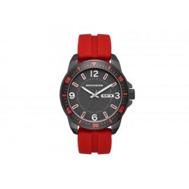 Skechers Aluminum Bezel Silicone SR5079 Reloj para Caballero Color Rojo - Envío Gratuito