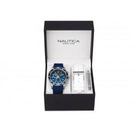 Nautica NAD16551G Box set Reloj para Caballero Color Azul - Envío Gratuito