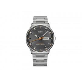 Mido Commander II M0214311106101 Reloj para Caballero Color Acero - Envío Gratuito