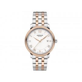 Montblanc Tradition Date Automatic 114337 Reloj para Caballero Color Plateado - Envío Gratuito