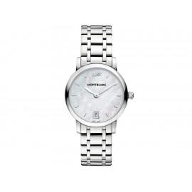 Reloj para dama Mont Blanc Star 108764 blanco - Envío Gratuito