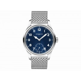 Montblanc 1858 Manual Small Second 114958 Reloj Unisex Color Plata - Envío Gratuito